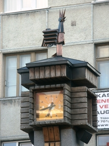 """Cockerel"" Clock Square"